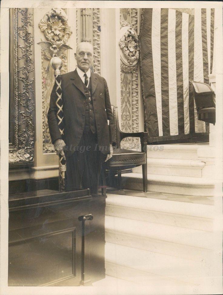 1927 Mr. AC Jordan Assistant Sargent House Representatives Flag Suit Press Photo