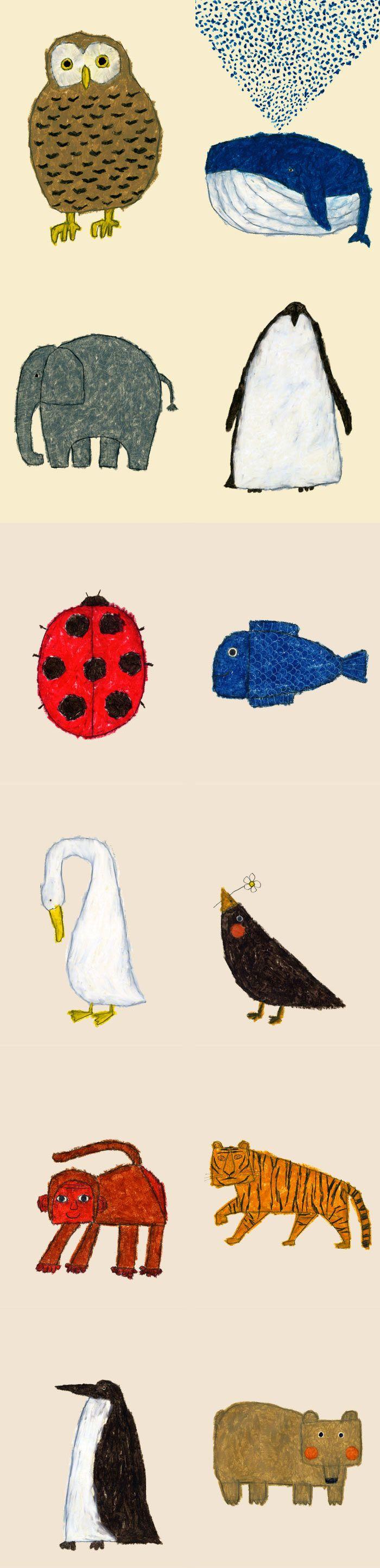 Animal figures by Yusuke Yonezu // kid's illustration