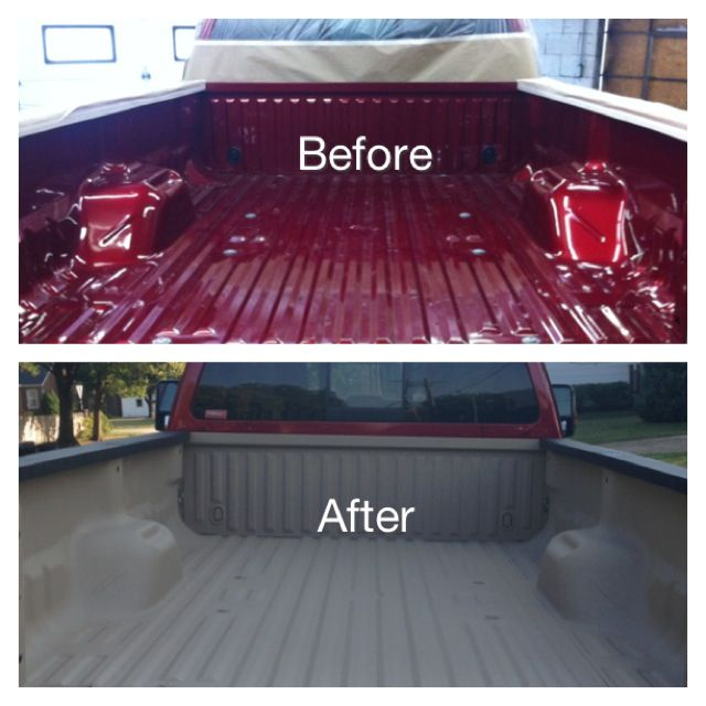 We do colored spray in bedliners