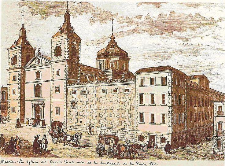 Convento del Espíritu Santo, en el solar que ocupa el Congreso de los Diputados.
