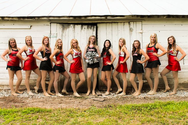 {Teen Photography} HS Poms - Dance Team - Team Pictures - Fun Photography