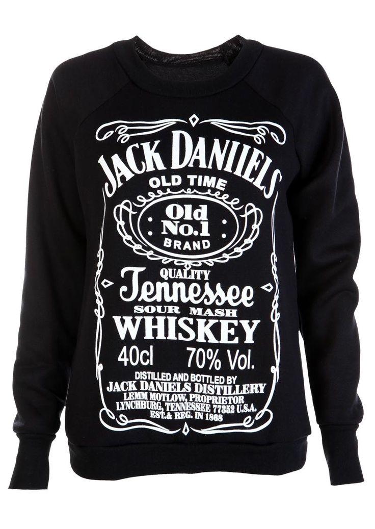 Black Jack Daniells Sweat Shirt - Womens Clothing ...