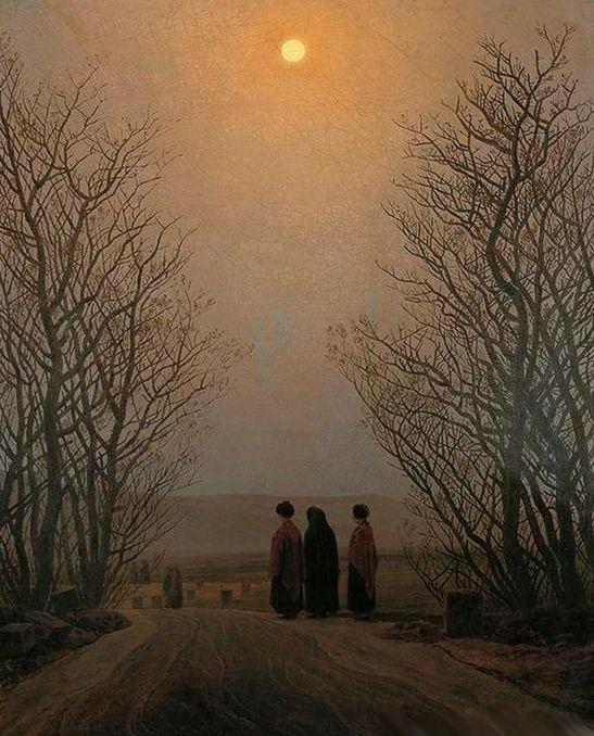 Caspar David Friedrich (1776-1840) - pintor alemão - manhã de Páscoa - Pintores y Pinturas