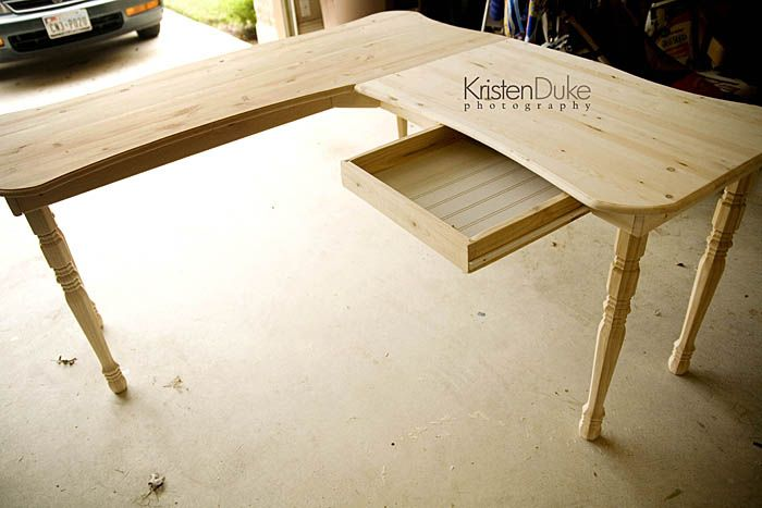 DIY desk under $50. www.Capturing-Joy.com