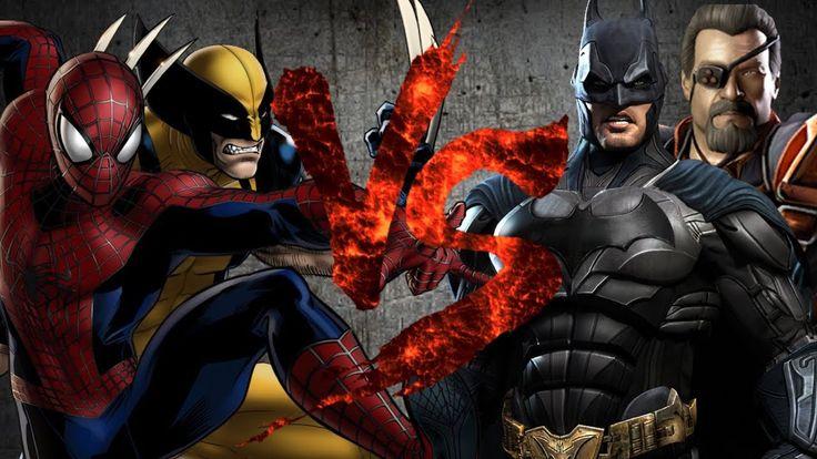 Росомаха и Человек-Паук VS Бэтмен и Дефстроук [Bifrost Fight Club 3.0]