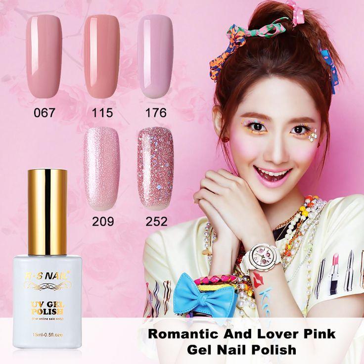 15ml Romantic Sweet Lover Gel Nail Polish UV LED Girls Pink Nude Series Soak-Off gel varnishes Sweet Colours