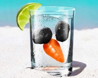 Ahhh! So Cute! Frosty the Snowman Reusable Ice Cubes! Perfect for Christmas in July Parties :D