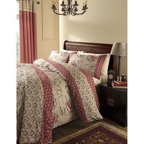 Tesco direct: Catherine Lansfield Home Premium Multi Coloured Kashmir King Size Quilt Set