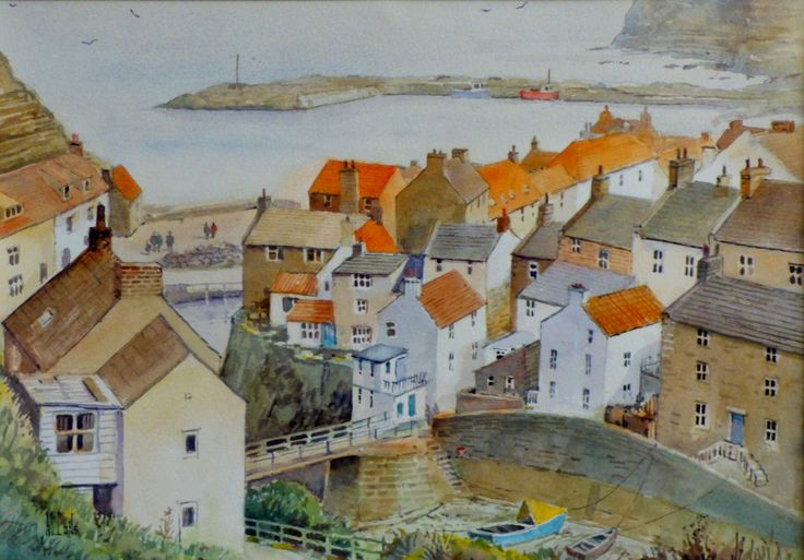 Malcolm Coils. Staithes view from Cowbar