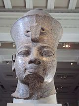 *AMENHOTEP III: colossal granite head, Brisish Museum.
