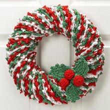 Christmas Welcome Crochet Wreath - my mother-in-law makes these, very pretty.