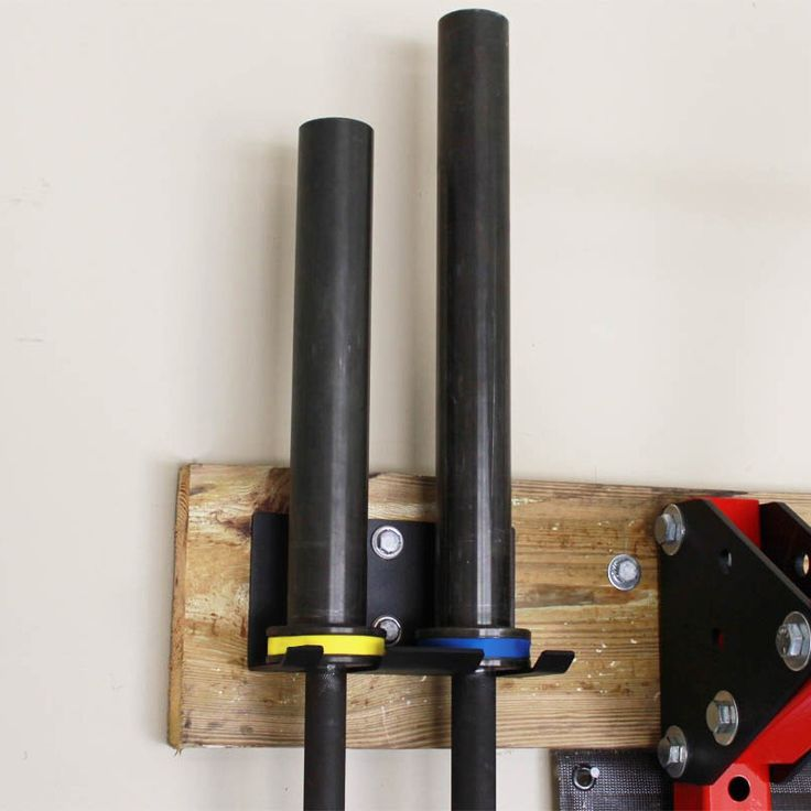 2 Bar Vertical Barbell Storage Rack Wall Mounted Olympic