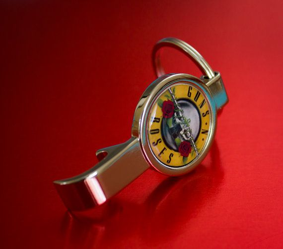 Great Guns n Roses Bottle Opener Keyring by WeeHings on Etsy