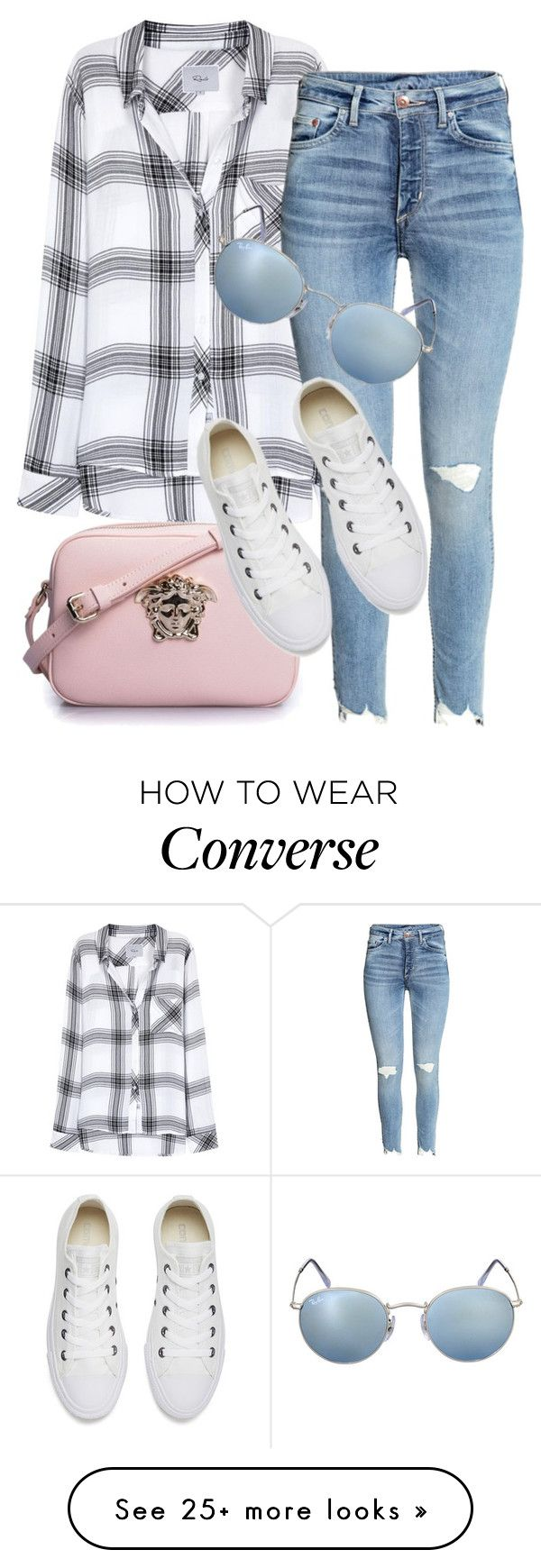 """""""What i'd Wear"""" by monmondefou on Polyvore featuring Rails, Ray-Ban, Versace and Converse"""