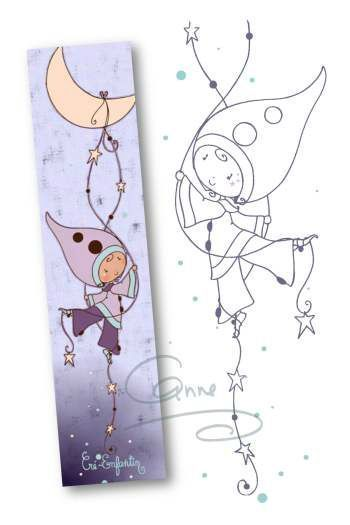 Cute design for an embroidered bookmark