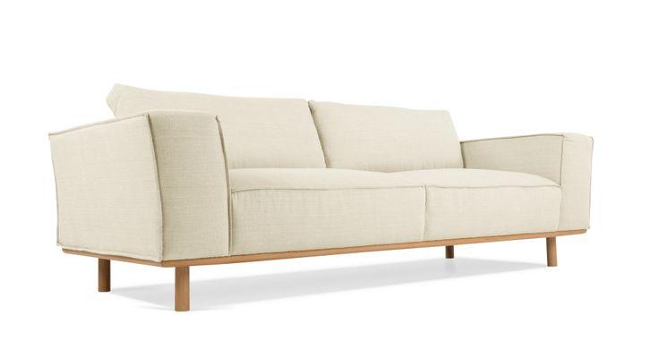 Daphne 3 Seater Sofa, Crème Beige | made.com