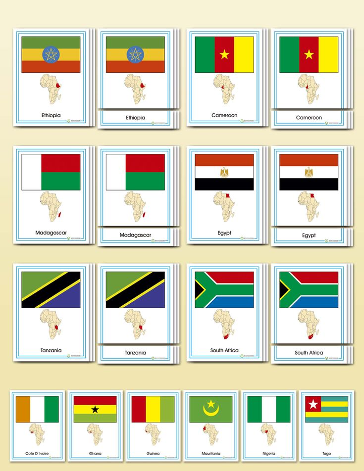 Flags of Africa | Montessori Research & Development