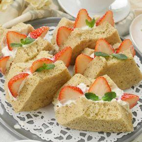 レンジで簡単!もっちりシフォンケーキ風サンド - macaroni