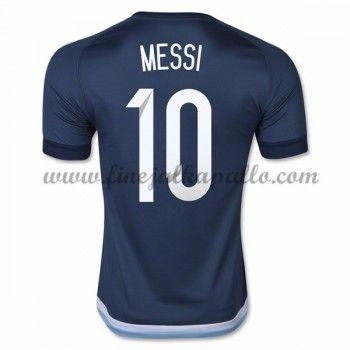 Argentiina Jalkapallomaajoukkue Pelipaidat 2016 Lionel Messi 10 Vieraspaita