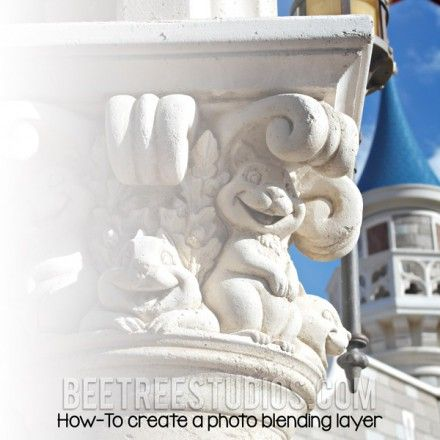 Tutorial - How to create a photo blending layer at Bee Trees Studios