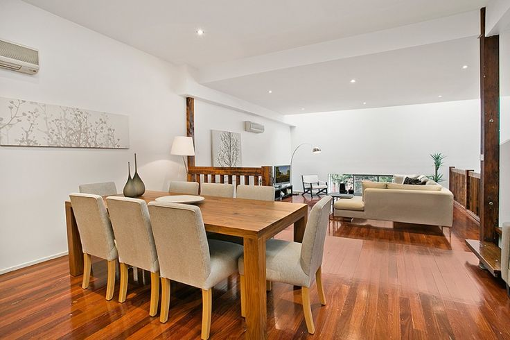 From the warehouse interiors to white open plan dining room. Probably most like dining and living room.