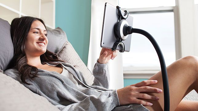 You always wanted a pet monkey.  The Spider Monkey is strong, nimble, and not afraid of heights.  Kick back and use your tablet in bed or on the couch, while the Spider Monkey holds your screen hands-free at eye-level