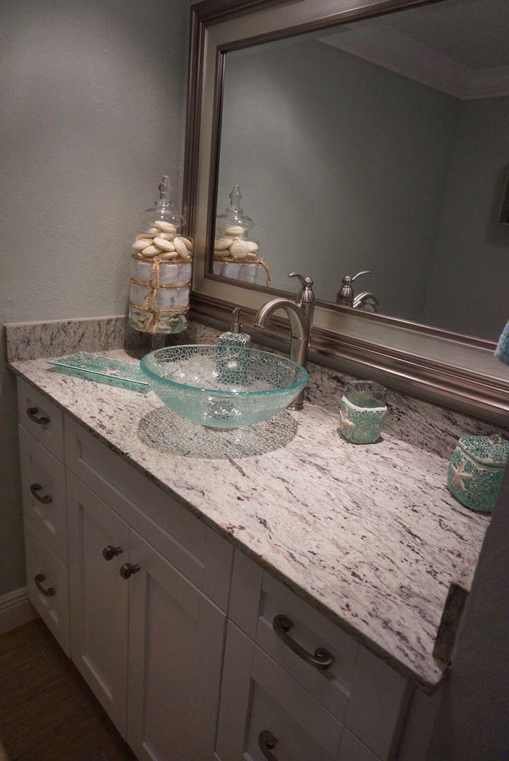 Power Bathroom. River White Granite, Bath Accessories From