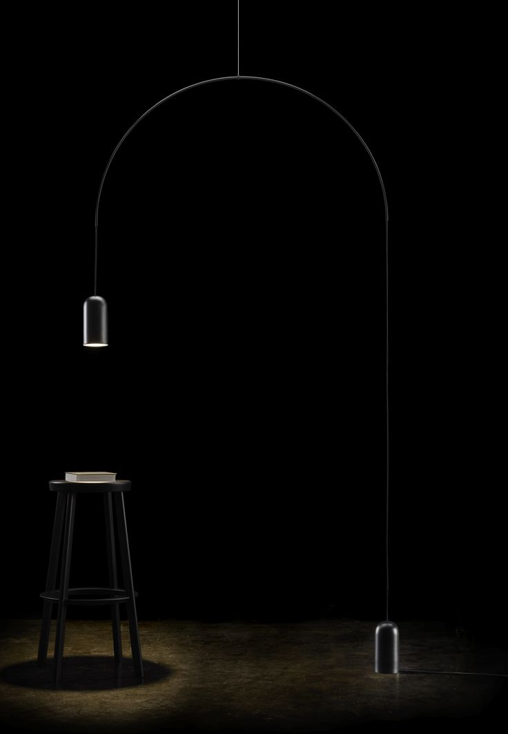 BOW floor | lamp collection designed by david dolcini STUDIO for tossB #tossB #lamp #lighting #totalblack #metal #minimal #design #daviddolcini #daviddolcinistudio