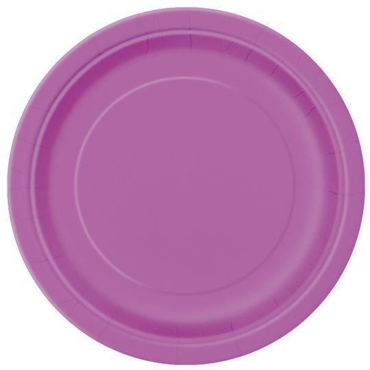 "9"" Purple Dinner Plates, 8ct"