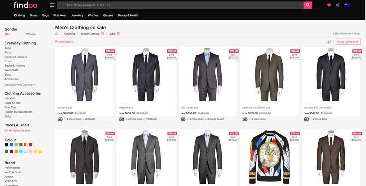Over 1200 designer items for men on SALE! visit us: https://www.findoo.com.au/clothing/men/sale/