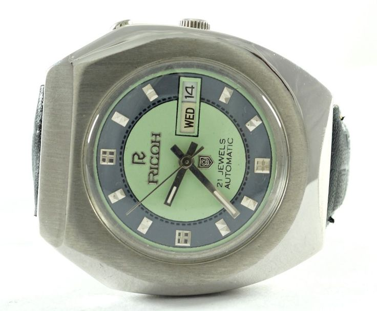 100% AUTHENTIC VINTAGE RARE COLOUR RICOH 21 J D/D AUTOMATIC MENS WRIST WATCH #RICOH #CartoonIdol