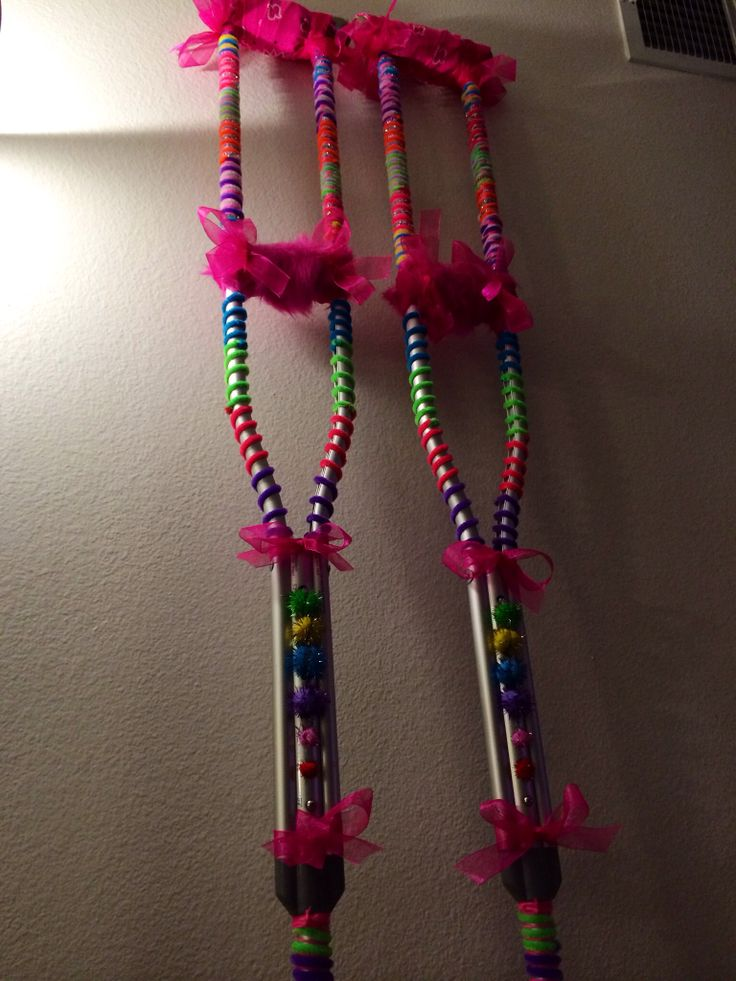 Creative decorated crutches :)