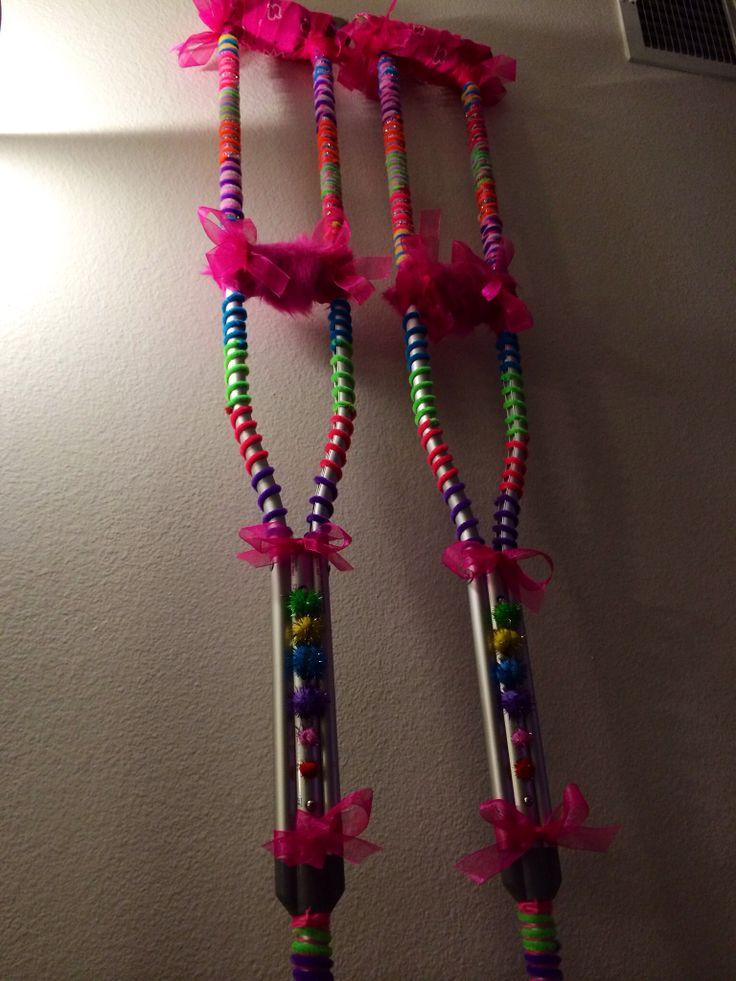 Creative decorated crutches :)
