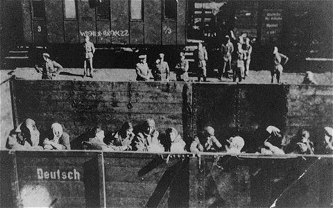Deportation of Jewish women from the Warsaw ghetto. Poland, 1942-1943. They are being sent to death camp