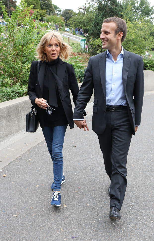Macron y Brigit.