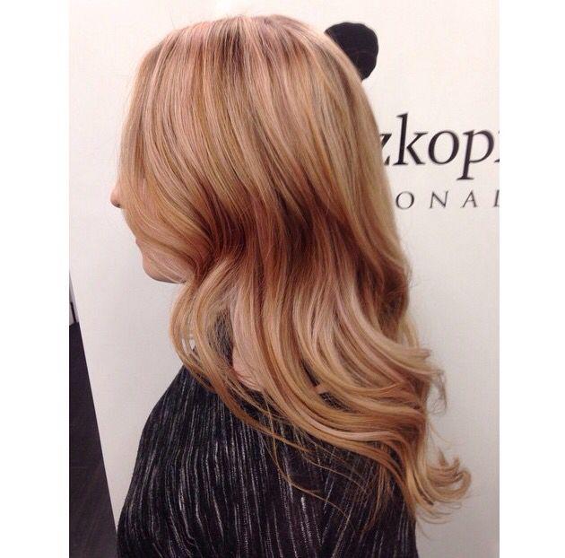 Rose gold highlights. Hair by MEGHAN