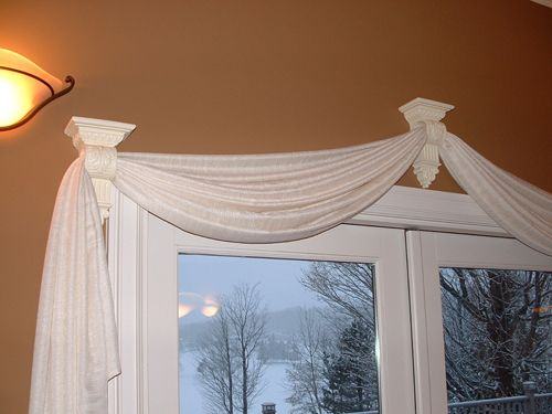 scarves for window treatments for sliding glass doors in kitchen - Google Search