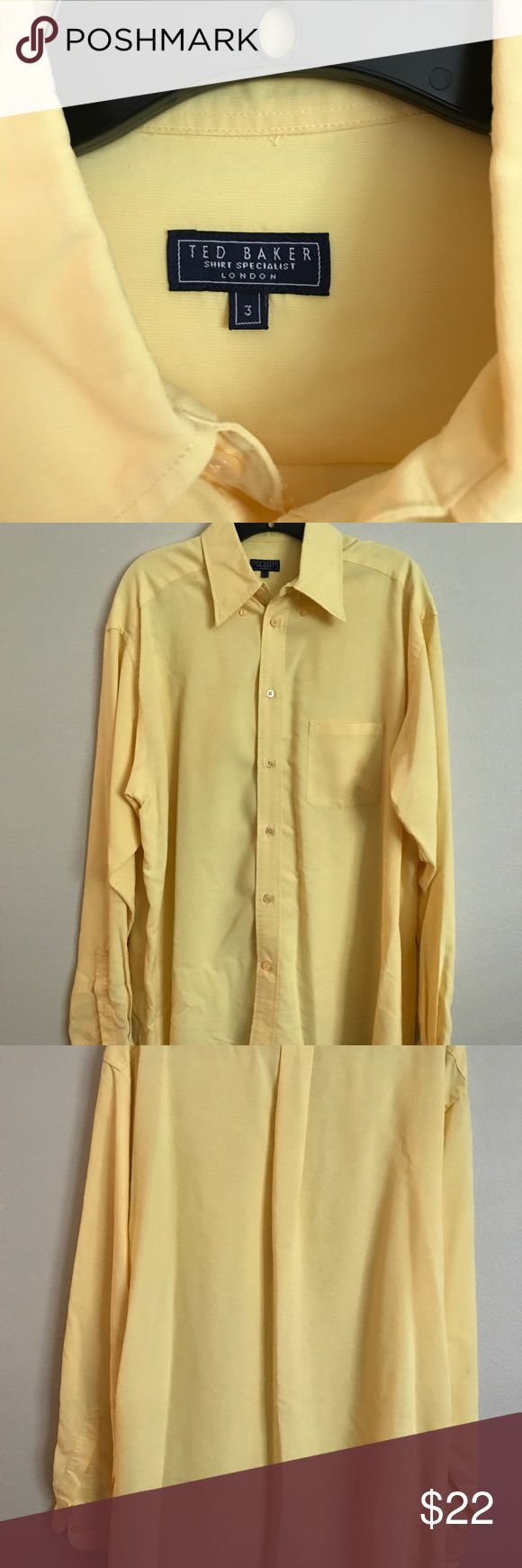 Ted Baker yellow shirt Ted Baker yellow shirt size 3. Baker by Ted Baker Shirts Dress Shirts