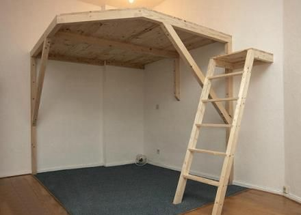 46 besten bett selber bauen bilder auf pinterest holzarbeiten etagenbetten und holz. Black Bedroom Furniture Sets. Home Design Ideas