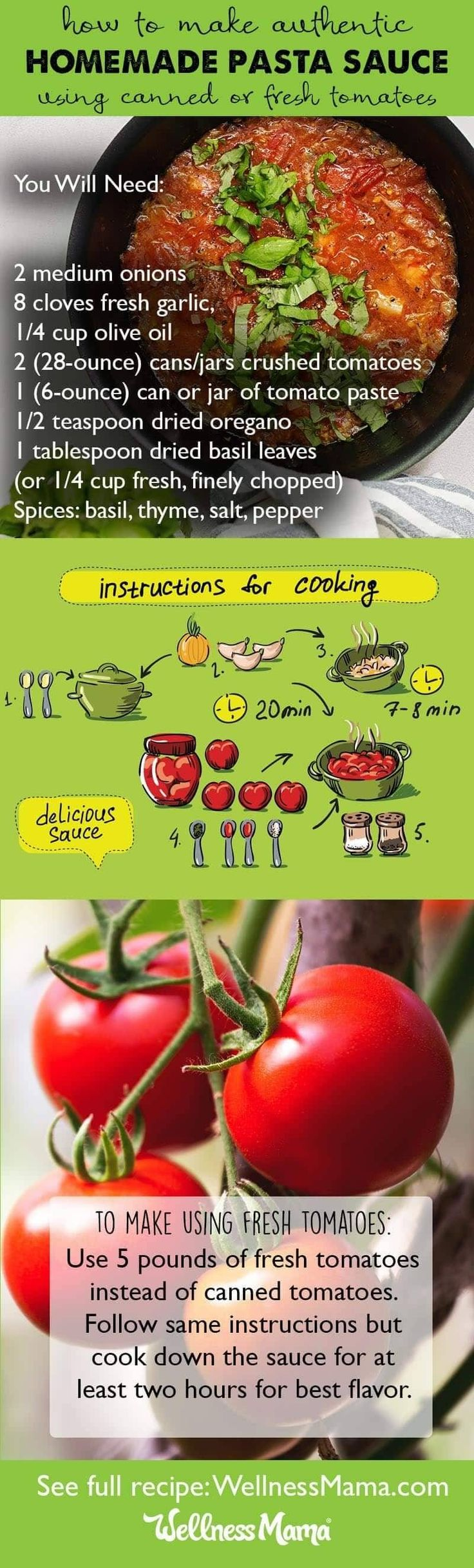 An authentic homemade Italian pasta sauce recipe using fresh tomatoes and herbs.