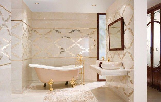 Bagno in granito - Colori preziosi per arredare il bagno in stile vintage.