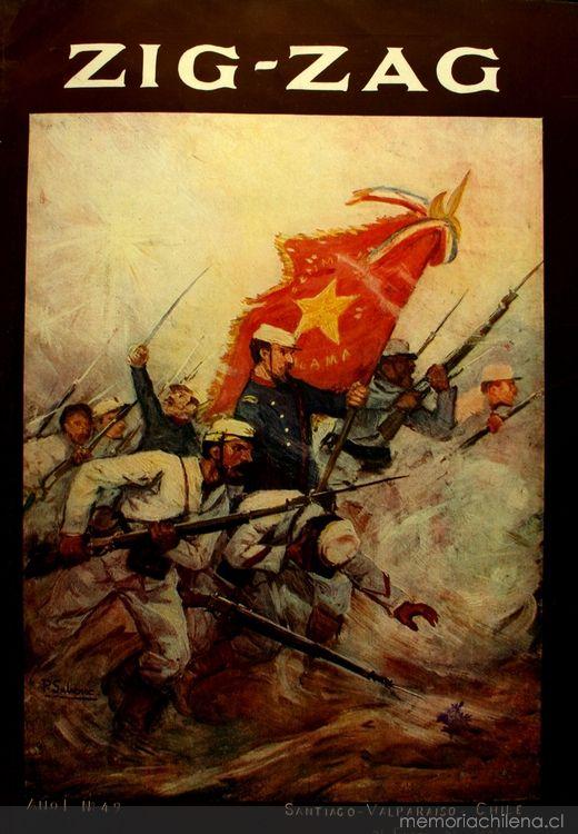 Zig-Zag: n° 49, 21 de enero de 1906 Portada Batallòn Atacama  Pedro Subercaseaux