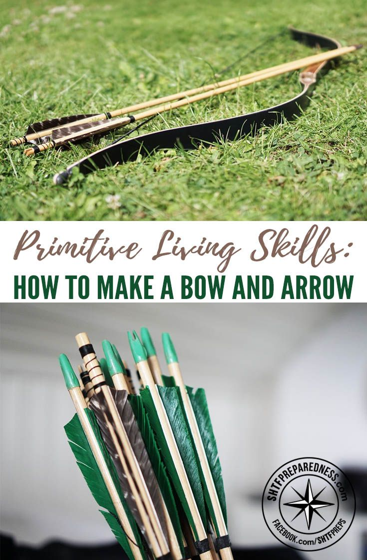 Primitive Living Skills: How To Make a Bow and Arrow — If you live self-sufficiently, you know how much time is spent on getting food for the family. Gardening and livestock management stay at the top of your priority list, since one bad season can lead to disaster.