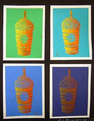 Pop Art- Styrofoam prints  For the Love of Art: 5th Grade