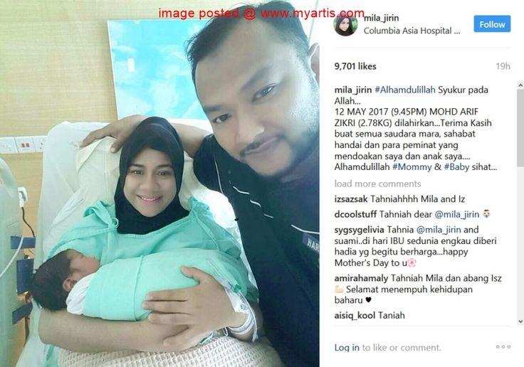 SELAMAT BERSALIN - 'MOHD ARIF ZIKRI' NAMA ANAK SULUNG MILA JIRIN   Tahniah diucapkan kepada penyanyi Mila Jirin 29 dan suaminya Isz Mustapha atas kelahiran anak sulung mereka yang selamat dilahirkan pada jam 9.45 malam semalam. Difahamkan Mila melahirkan anak lelakinya yang diberi nama Mohd Arif Zikri dengan berat 2.78 kilogram itu secara pembedahan di sebuah hospital swasta. Mila yang juga juara Akademi Fantasia musim kelima itu berkata asalnya beliau mahu melahirkan secara normal.<< BERITA…