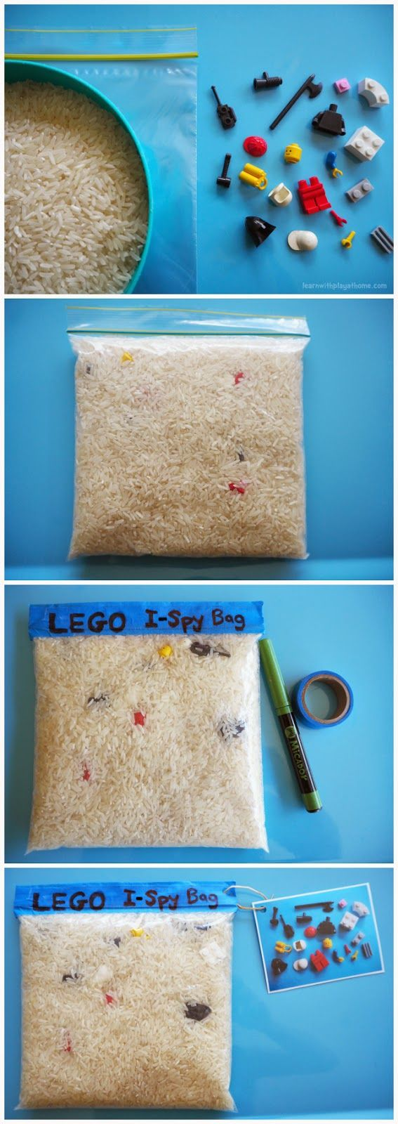 DIY LEGO I-Spy Bag plus other fun road trip activities