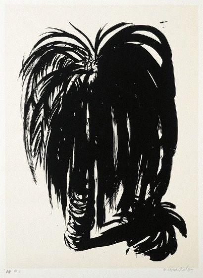 Brett Whiteley ~ Palm Tree 3, 1975 (screenprint)