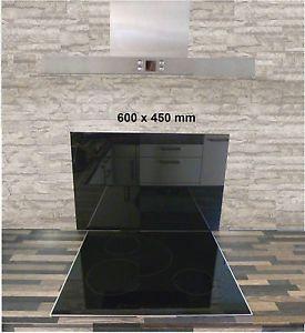 60 90cm Spritzschutz Glas ESG Wandverkleidung Herd Küche Glasrückwand  Herdschutz | EBay