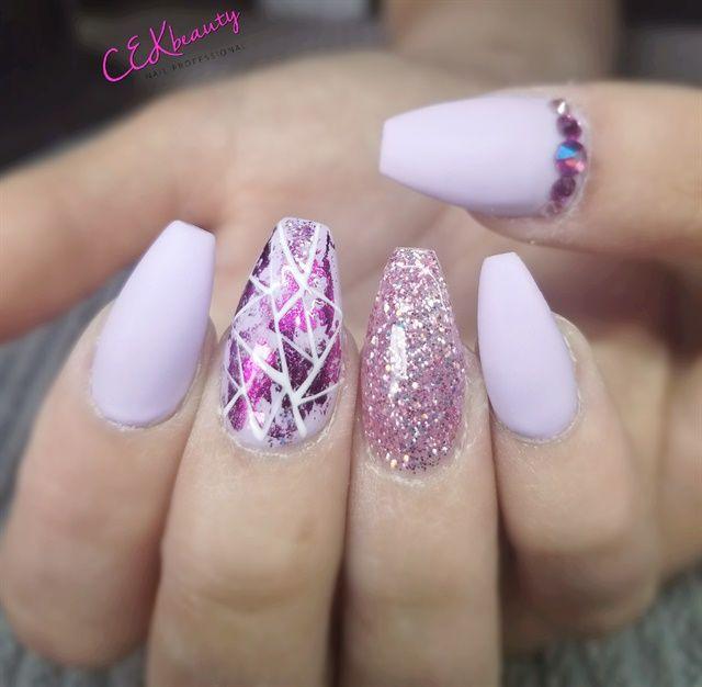 Day 162 Summer Purple Nail Art Purple Nail Art Purple Nails Purple Nail Designs