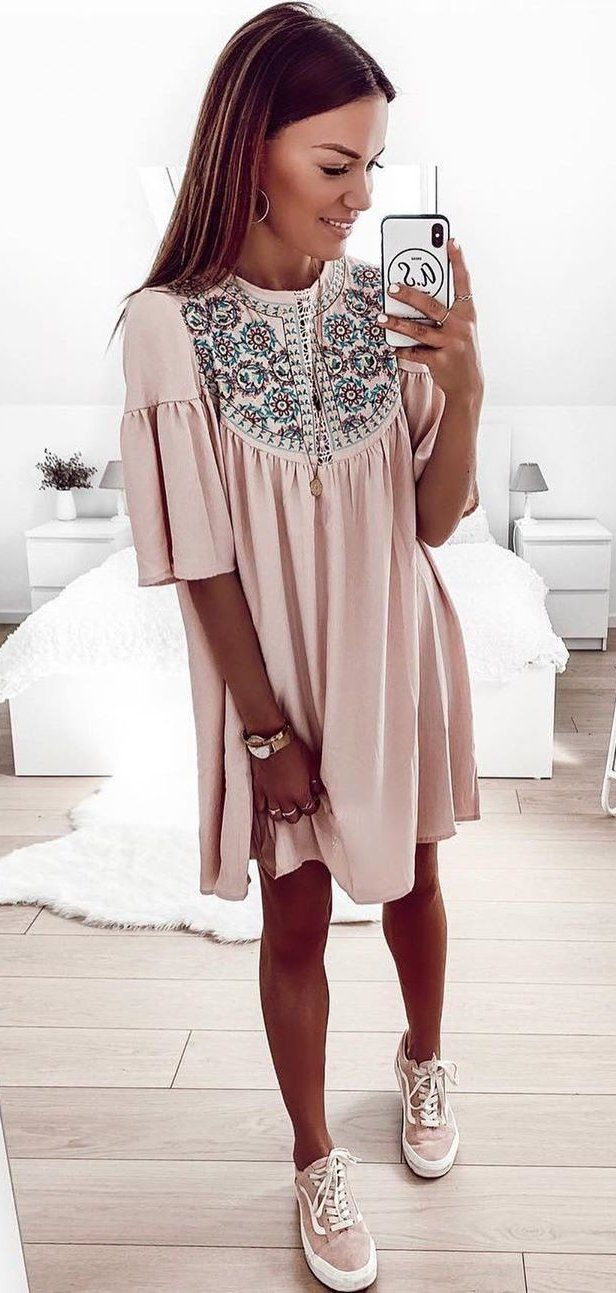 rosa Kleid # Sommer # Outfits